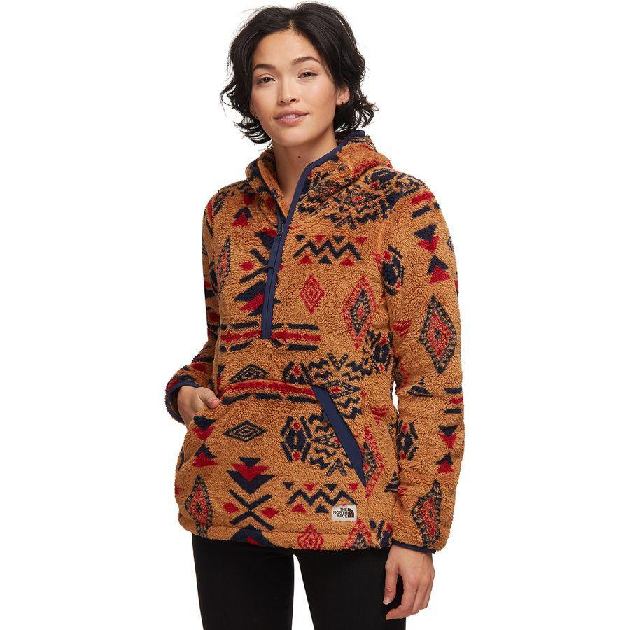 (取寄)ノースフェイス レディース Campshire 2.0フーデッド プルオーバー フリース ジャケット The North Face Women Campshire 2.0 Hooded Pullover Fleece Jacket Cedar Brown California Geo Print