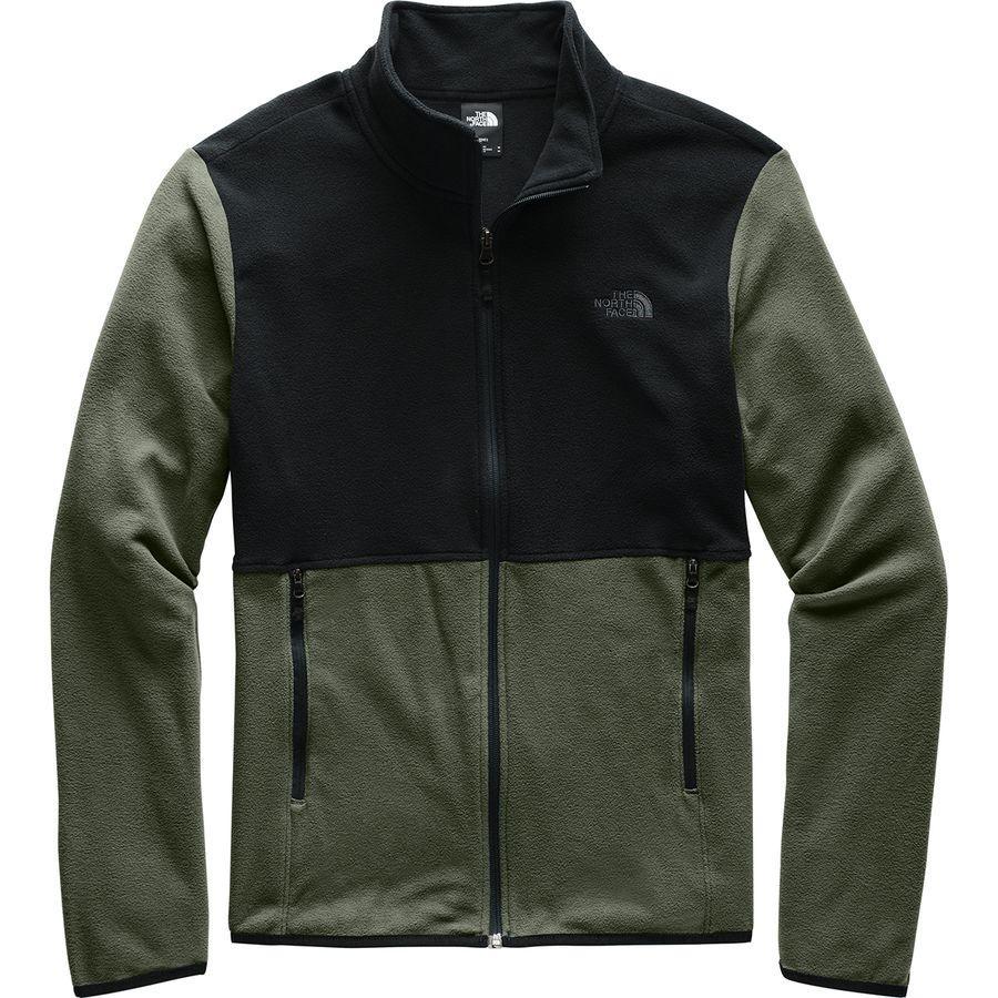 【クーポンで最大2000円OFF】(取寄)ノースフェイス メンズ TKA グレイシャー フルジップ フリース ジャケット The North Face Men's TKA Glacier Full-Zip Fleece Jacket New Taupe Green/Tnf Black