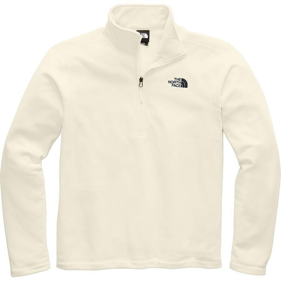 (取寄)ノースフェイス メンズ テクスチャ キャップ ロック 1/4-Zip フリース ジャケット The North Face Men's Textured Cap Rock 1/4-Zip Fleece Jacket Vintage White