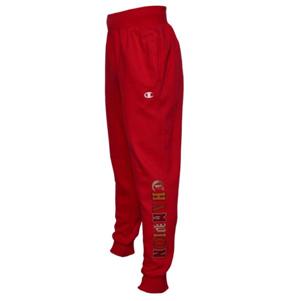 【クーポンで最大2000円OFF】(取寄)チャンピオン メンズ リバース ウィーブ ジョガー オールド イングリッシュ Champion Men's Reverse Weave Jogger Old English Team Red Scarlet
