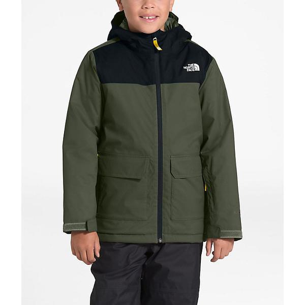 (取寄)ノースフェイス キッズ フリーダム インスレート ジャケット The North Face Kid's Freedom Insulated Jacket New Taupe Green / TNF Black