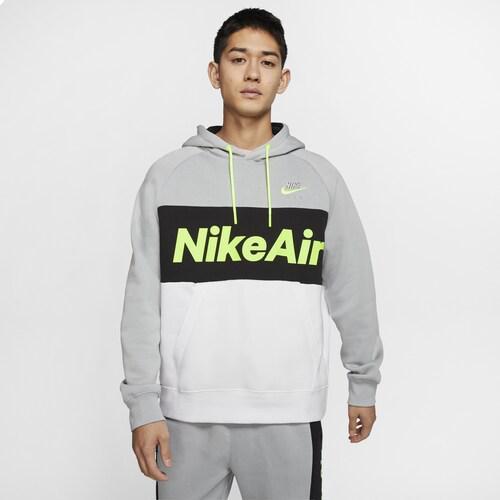 【エントリーでポイント10倍】(取寄)ナイキ メンズ エア プルオーバー フーディ Nike Men's Air Pullover Hoodie Light Smoke Grey Black White