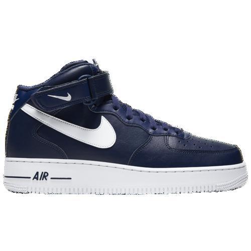 (取寄)ナイキ メンズ エア フォース 1 ミッド Nike Men's Air Force 1 Mid Midnight Navy White