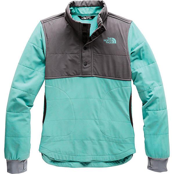 【クーポンで最大2000円OFF】(取寄)ノースフェイス ガールズ マウンテン 1/4 スナップ スウェットシャツ The North Face Girls' Mountain 1/4 Snap Sweatshirt Mint Blue