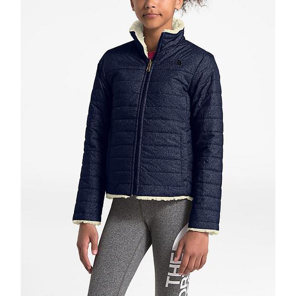 (取寄)ノースフェイス ガールズ リバーシブル モスブッド スワール ジャケット The North Face Girls' Reversible Mossbud Swirl Jacket Montague Blue Denim Print