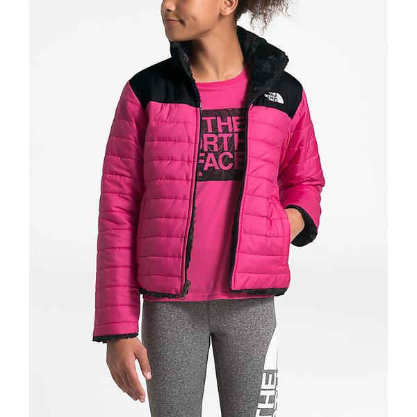 【クーポンで最大2000円OFF】(取寄)ノースフェイス ガールズ リバーシブル モスブッド スワール ジャケット The North Face Girls' Reversible Mossbud Swirl Jacket Mr. Pink