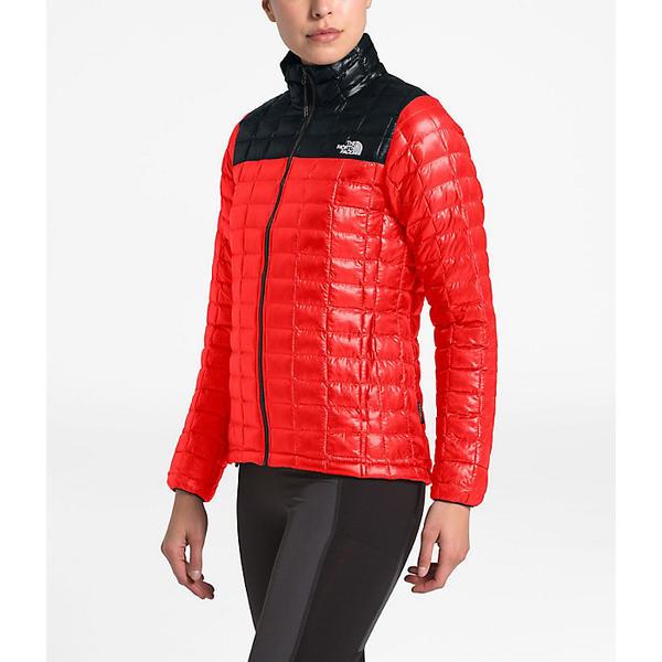(取寄)ノースフェイス レディース サーモボール エコ ジャケット The North Face Women's ThermoBall Eco Jacket Fiery Red Matte/TNF Black Matte