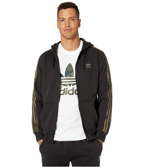 【エントリーでポイント10倍】(取寄)アディダス オリジナルス メンズ カモ フル ジップ  パーカー adidas originals Men's adidas Originals Camo Full Zip Hoodie Black/Multicolor