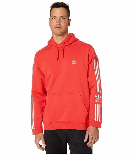 【エントリーでポイント10倍】(取寄)アディダス オリジナルス メンズ ロック アップ  パーカー adidas originals Men's adidas Originals Lock Up Hoodie Lush Red