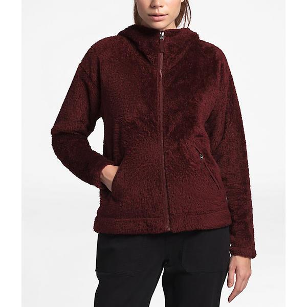 (取寄)ノースフェイス レディース ファーリー フリース フーディ The North Face Women's Furry Fleece Hoodie Deep Garnet Red
