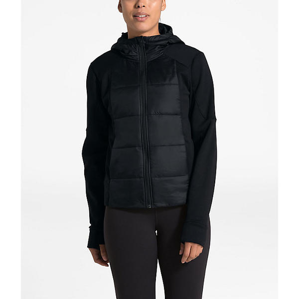 (取寄)ノースフェイス レディース モチベーション ハイブリット ショート ジャケット The North Face Women's Motivation Hybrid Short Jacket TNF Black:スウィートラグ