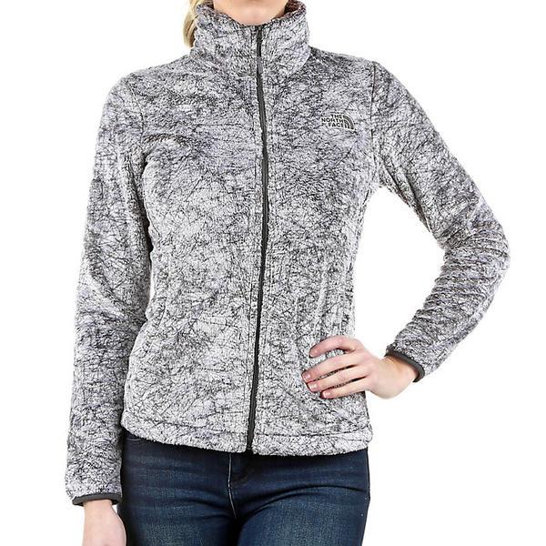 (取寄)ノースフェイス レディース シーズナル オシト ジャケット The North Face Women's Seasonal Osito Jacket Graphite グレー Marble Print