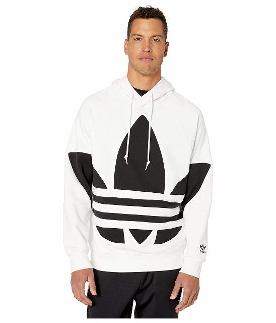 【エントリーでポイント10倍】(取寄)アディダス オリジナルス メンズ ビッグ トレフォイル  パーカー adidas originals Men's adidas Originals Big Trefoil Hoodie White