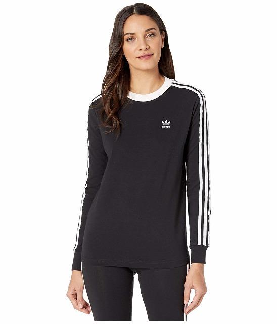 (取寄)アディダス オリジナルス レディース アディカラー クラシックス 3 Tシャツ adidas originals Women adiColor Classics 3 Tee Black/White