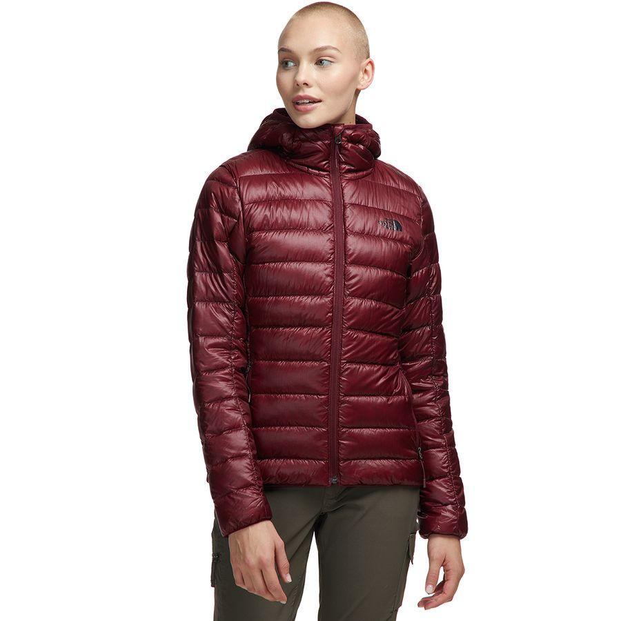 (取寄)ノースフェイス レディース シエラ ピーク ダウン フーデッド ジャケット The North Face Women Sierra Peak Down Hooded Jacket Deep Garnet Red