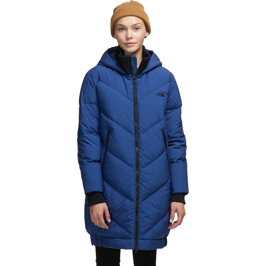 (取寄)ノースフェイス レディース アルボルズ ダウン Parkina ジャケット The North Face Women Albroz Down Parkina Jacket Flag Blue