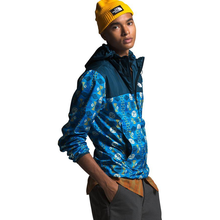 (取寄)ノースフェイス メンズ ノベルティ Fanorak ジャケット The North Face Men's Novelty Fanorak Jacket Clear Lake Blue Song Lines Print/Blue Wing Teal