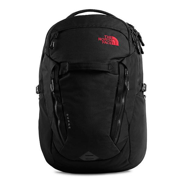 (取寄)ノースフェイス サージ バックパック The North Face Surge Backpack TNF Black Heather / TNF Red