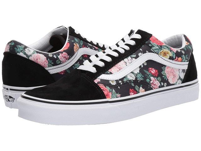 (取寄)Vans(バンズ) スニーカー オールド スクール メンズ Vans Men's Old Skool (Garden Floral) Black/True White
