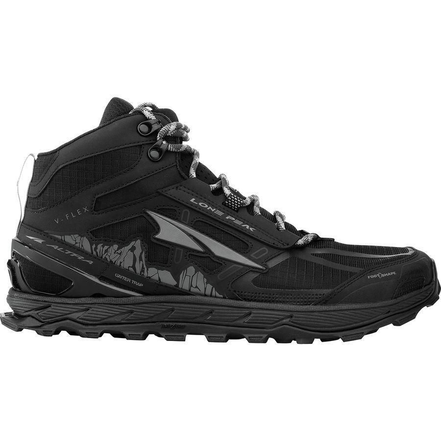 (取寄)アルトラ メンズ ローン ピーク 4ミッド メッシュ トレイル ランニング シューズ Altra Men's Lone Peak 4 Mid Mesh Trail Running Shoe Running Shoes Black