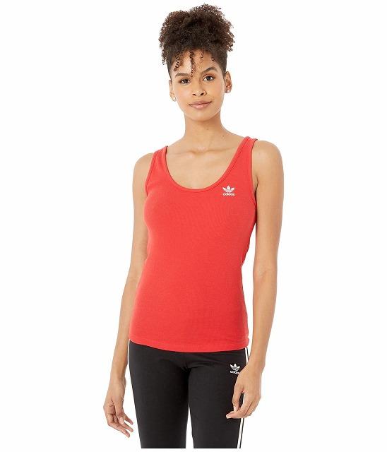 取寄 アディダス オリジナルス レディース アディカラー タンク トップ タンクトップ adidas originals Women adidas Originals adiColorTank Top Lush Red WhitewN8n0kOPX