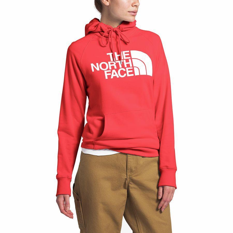 (取寄)ノースフェイス レディース ハーフ ドーム プルオーバー パーカー The North Face Women Half Dome Hoodie Pullover Cayenne Red