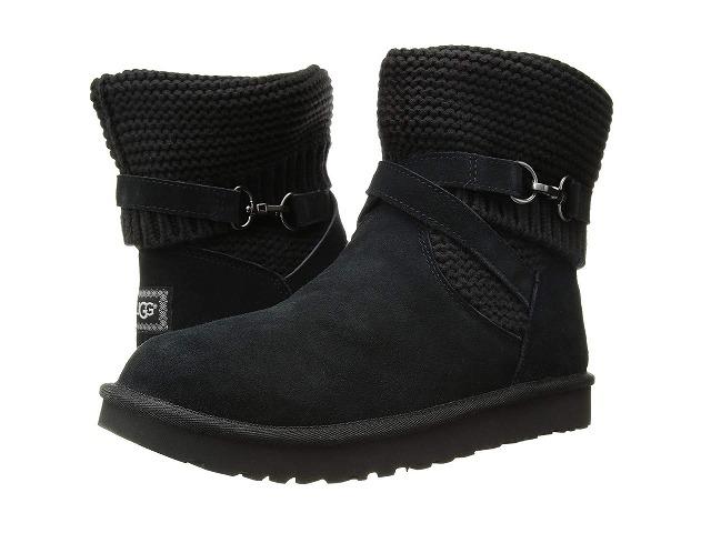 (取寄)アグ レディース パール ストラップ ブーツ UGG Women Purl Strap Boot Black