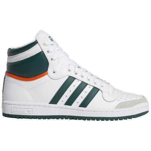 (取寄)アディダス メンズ オリジナルス トップ テン ハイ Men's adidas Originals Top Ten Hi White Green Orange