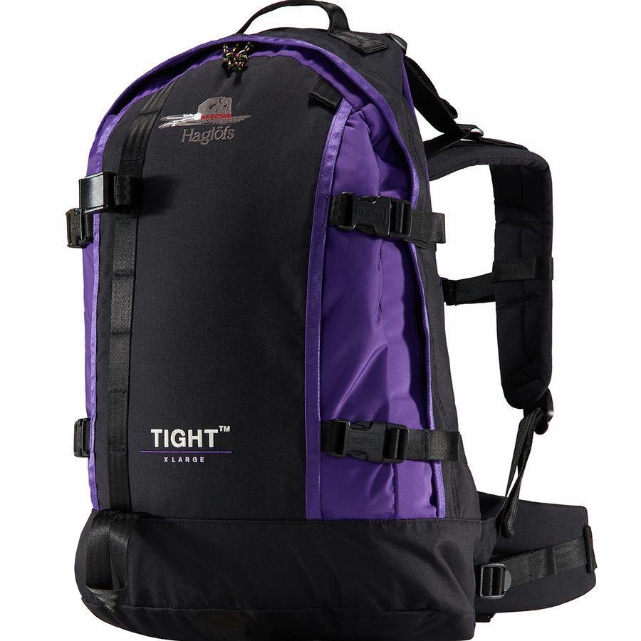 【クーポンで最大2000円OFF】(取寄)ホグロフス ユニセックス タイト オリジナル X-ラージ バックパック Haglofs Men's Tight Original X-Large Backpack True Black/Purple