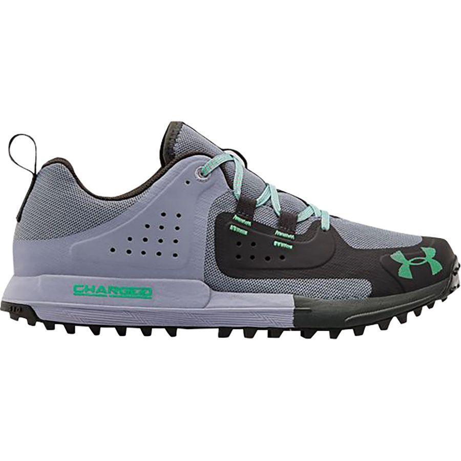【クーポンで最大2000円OFF】(取寄)アンダーアーマー レディース シンクライン エッジ ハイキング シューズ Under Armour Women Syncline Edge Hiking Shoe Purple Dusk/Jet Gray/Vapor Green