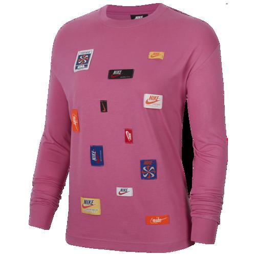 (取寄)ナイキ レディース JDIY ロング スリーブ Tシャツ Nike Women's JDIY Long Sleeve T-Shirt Cosmic Fuschsia
