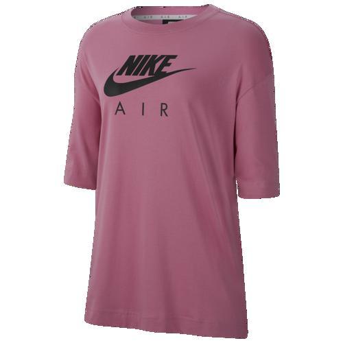(取寄)ナイキ レディース ボーイフレンド エア ショート スリーブ Tシャツ Nike Women's Boyfriend Air Short Sleeve T-Shirt Magic Flamingo