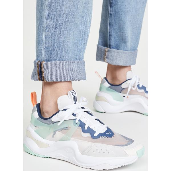 (取寄)プーマ ライズ スニーカー PUMA Rise Sneakers WhiteMist GreenCantaloupe