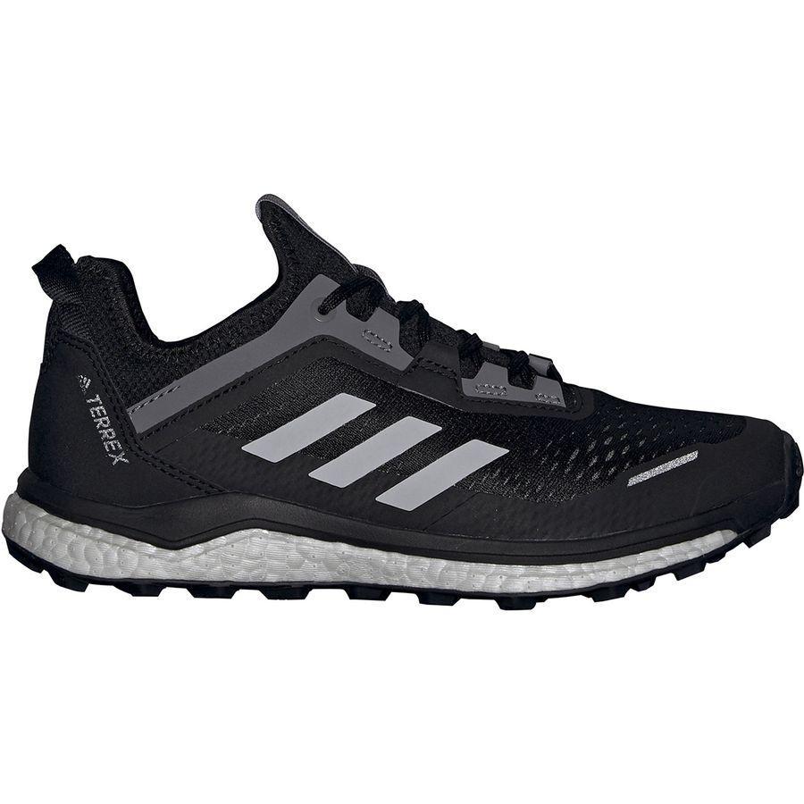【マラソン ポイント10倍】(取寄)アディダス レディース アウトドア テレックス アグラヴィック フロー トレイル ランニング シューズ Adidas Women Outdoor Terrex Agravic Flow Trail Running Shoe Running Shoes Black/Grey Two/Grey Four