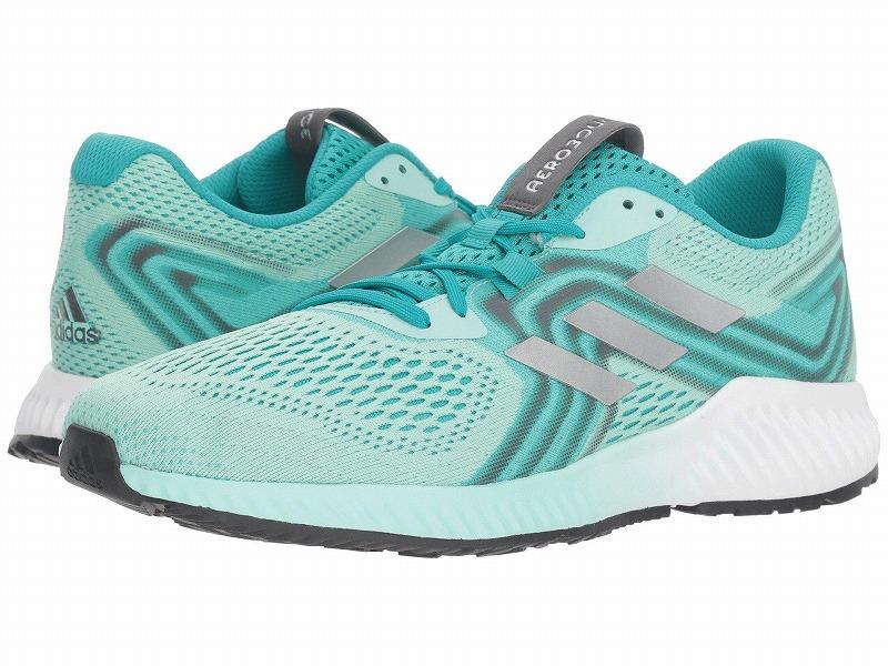 (取寄)アディダス レディース ランニング エアロバウンス ランニングシューズ adidas Women Running Aerobounce Hi-Res Aqua/Silver Metallic/Clear Mint