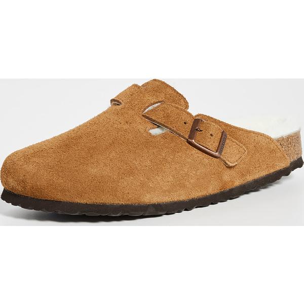 (取寄)ビルケンシュトック ボストン シアリング サンダル Birkenstock Boston Shearling Sandals MinkNatural