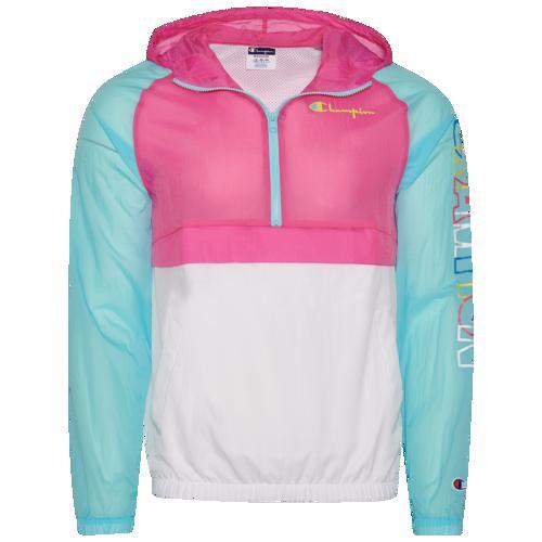 (取寄)チャンピオン メンズ カラー ブロック アノラック ジャケット Champion Men's Color Blocked Anorak Jacket Blue Horizon Reef Pink White