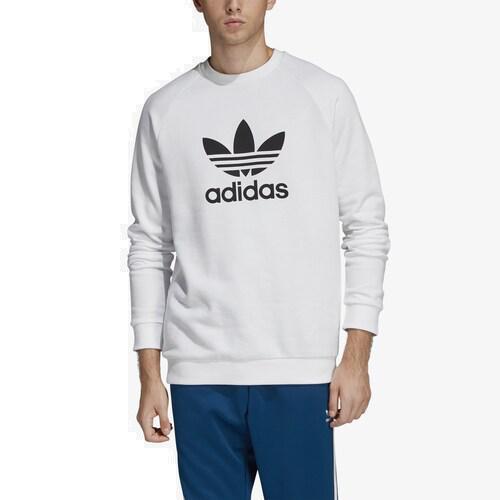 (取寄)アディダス メンズ オリジナルス トレフォイル クルー Men's adidas Originals Trefoil Crew White Black