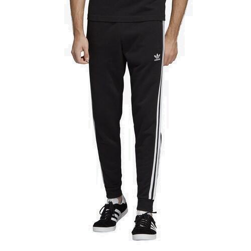 (取寄)アディダス メンズ オリジナルス 3 ストライプ フリース パンツ Men's adidas Originals 3 Stripes Fleece Pants Black White