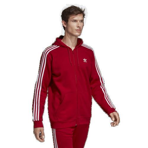 (取寄)アディダス メンズ オリジナルス カリフォルニア フリース フルジップ フーディ Men's adidas Originals California Fleece Full-Zip Hoodie Power Red White