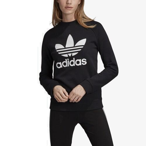 (取寄)アディダス レディース オリジナルス アディカラー トレフォイル クルー Women's adidas Originals Adicolor Trefoil Crew Black White