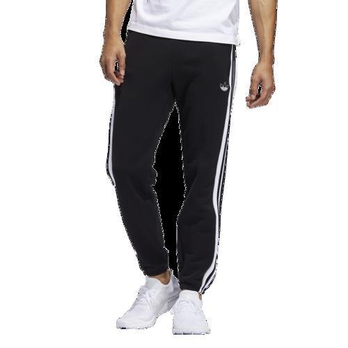 (取寄)アディダス メンズ オリジナルス 3 ストライプ パネル フリース パンツ Men's adidas Originals 3 Stripe Panel Fleece Pants Black White