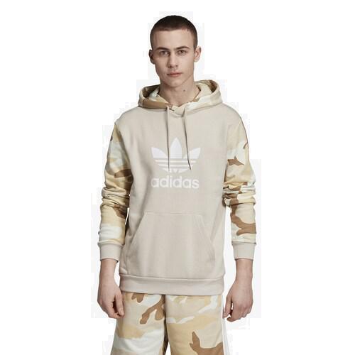 【エントリーでポイント10倍】(取寄)アディダス メンズ オリジナルス カモ プルオーバー フーディ Men's adidas Originals Camo Pullover Hoodie Clear Brown