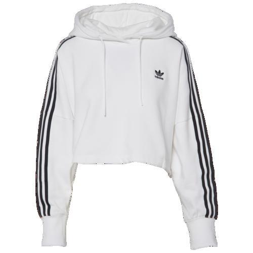(取寄)アディダス レディース オリジナルス アディカラー クロップド フーディ Women's adidas Originals Adicolor Cropped Hoodie White