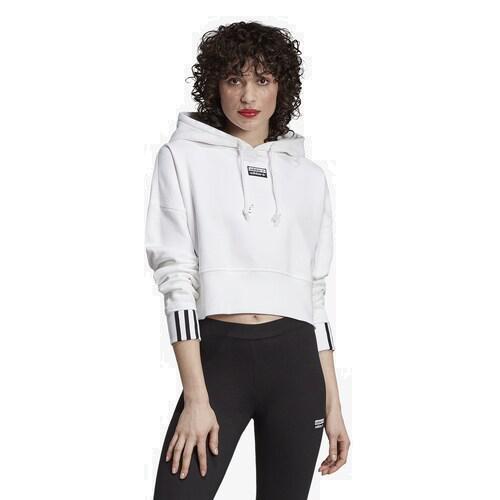 (取寄)アディダス レディース オリジナルス 'Reveal ユア ボイス クロップ フーディ Women's adidas Originals 'Reveal Your Voice' Crop Hoodie White
