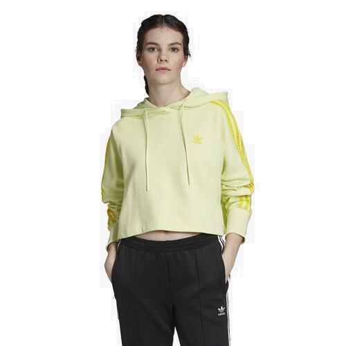 (取寄)アディダス レディース オリジナルス アディカラー クロップド フーディ Women's adidas Originals Adicolor Cropped Hoodie Icy Yellow