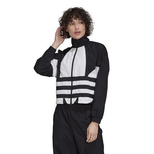 (取寄)アディダス レディース オリジナルス アディカラー ビッグ トレフォイル トラック ジャケット Women's adidas Originals Adicolor Big Trefoil Track Jacket Black White