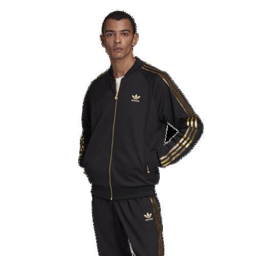 (取寄)アディダス メンズ オリジナルス 24K スーパースター トラック ジャケット Men's adidas Originals 24K Superstar Track Jacket Black Gold