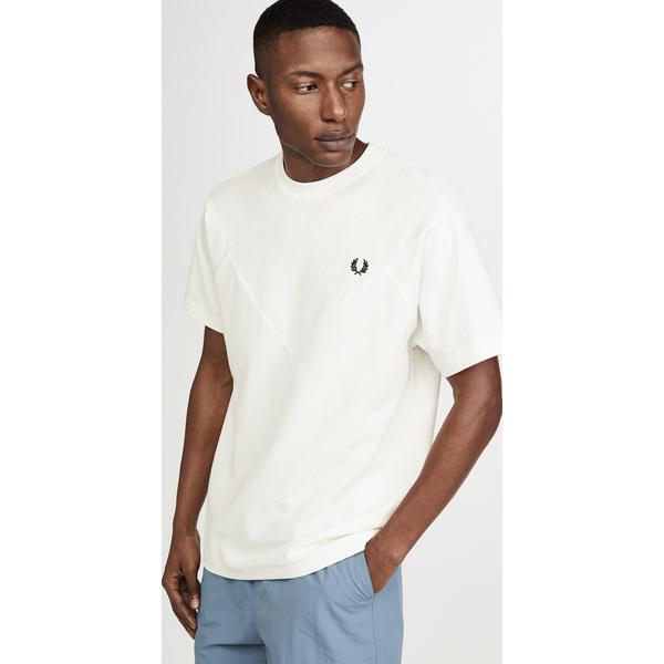 (取寄)フレッドペリー シェブロン Tシャツ Fred Perry Chevron T-Shirt SnowWhite