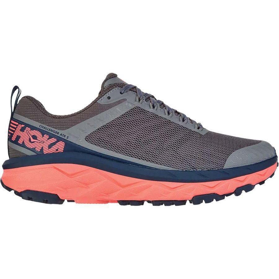 (取寄)ホカ オネ オネ レディース チャレンジャー ATR 5 ランニング シューズ HOKA ONE ONE Women Challenger ATR 5 Running Shoe Running Shoes Charcoal Gray/Fusion Coral